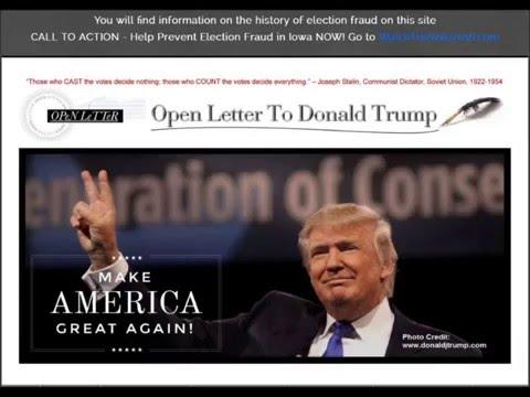Iowa Radio Ad - Open Letter to Donald Trump - WatchTheVote2016