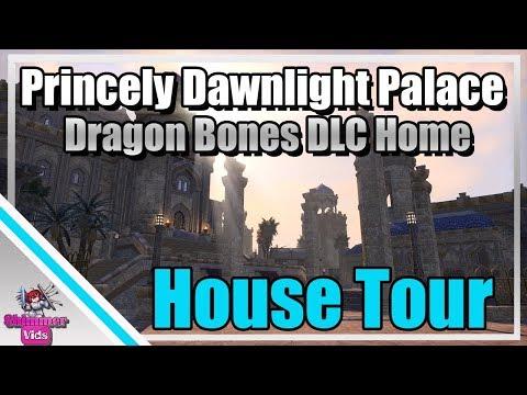 ESO: The Princely Dawnlight Palace Tour - Dragon Bones DLC Home