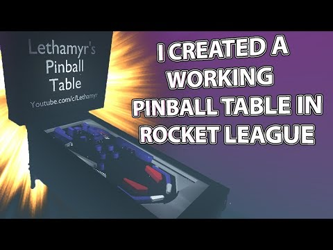 I Created a WORKING PINBALL TABLE in Rocket League! thumbnail