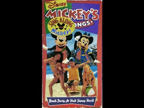Opening to Mickey's Fun Songs - Beach Party at Walt Disney World 1995 VHS