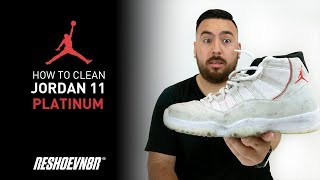 How to clean Air Jordan 11 Platinum with Reshoevn8r!
