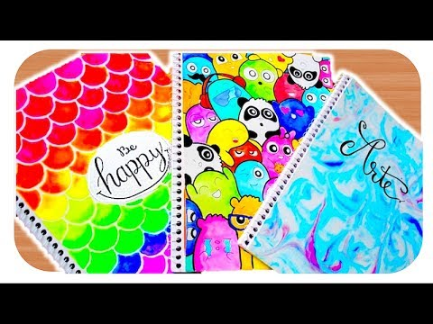 Ideas Para DECORAR Tus CUADERNOS, Libretas O Carpeta DIY