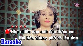 Mưa Chiều Kỷ Niệm (Karaoke Beat) - Tone Nữ | Đông Đào Karaoke