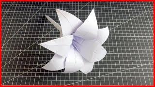 як зробити лілію з паперу орігамі схема
