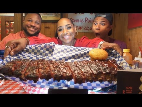 Famous Dave's Ribs, Burnt Ends, Wilber Beans, Mac & Cheese and Muffins