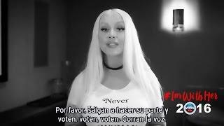 Christina Aguilera - Mensaje Campaña Hillary Clinton #ImWithHer 2016 (Subtítulos español)