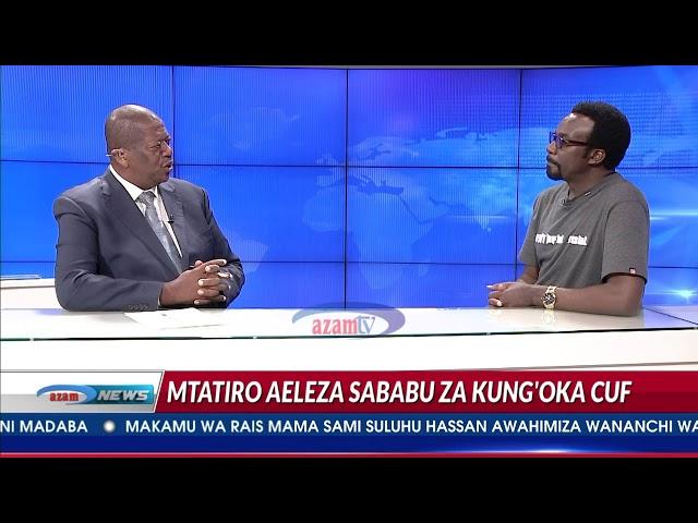 CCM imekununua kwa shilingi ngapi? lisikie jibu la Mtatiro akihojiwa na Azam TV