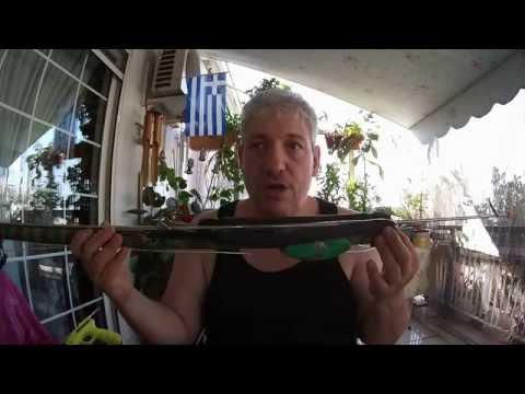 ψαροντουφεκο πραγματικο 90αρι και σεταρισμα spearfishing 90cm speargun  settings