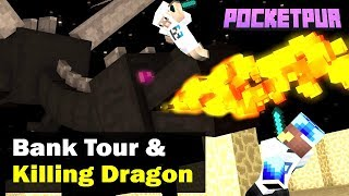#2 [POCKET PUR] - Bank Tour & Battle with Ender Dragon - Minecraft PE   in Hindi   BlackClue Gaming
