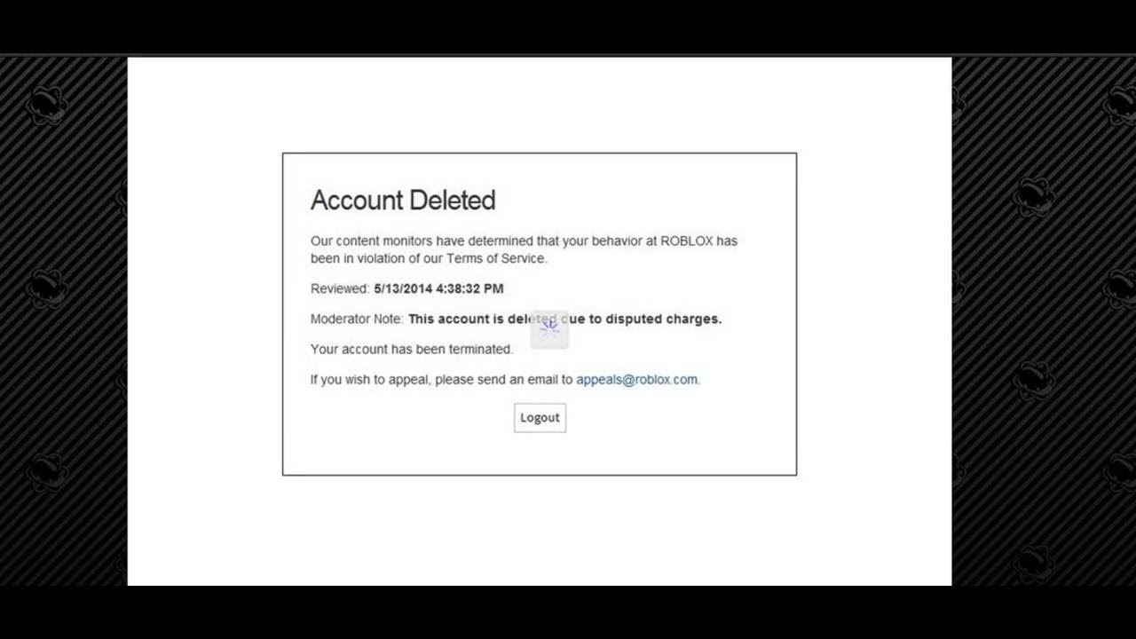 Roblox Account Deleted Youtube
