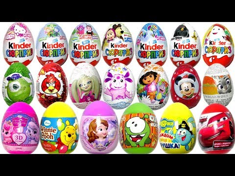 Киндер Сюрприз. Surprise Eggs. Барбоскины. Лунтик. Фиксики. Маша и Медведь. Смешарики. Новые серии.