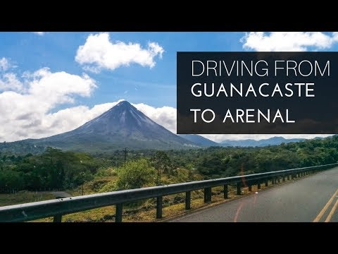 Driving from Guanacaste to Arenal, Costa Rica.