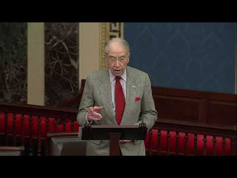Grassley on Democrats Spreading Disinformation to Protect President Biden