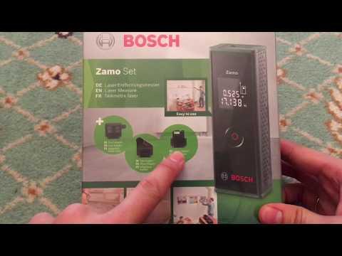 Распаковка и обзор лазерного дальномера Bosch Zamo III Set