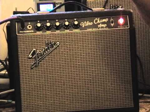 Vintage 1966 Blackface Fender Vibrochamp Amp For Sale Youtube