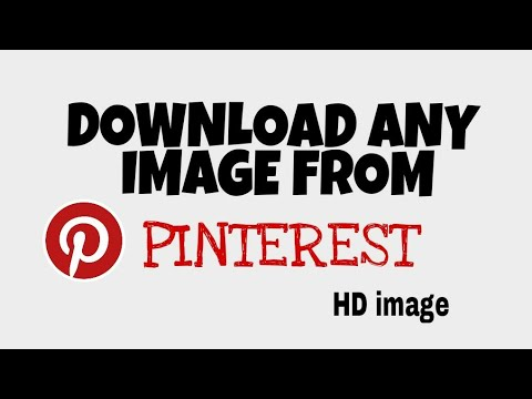 Download any image from pinterest (hd image) in your gallery!!!