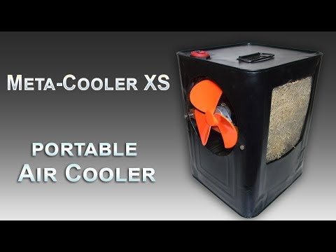 PORTABLE AIR COOLER, MADE OUT OF AN OLD METAL OIL CAN