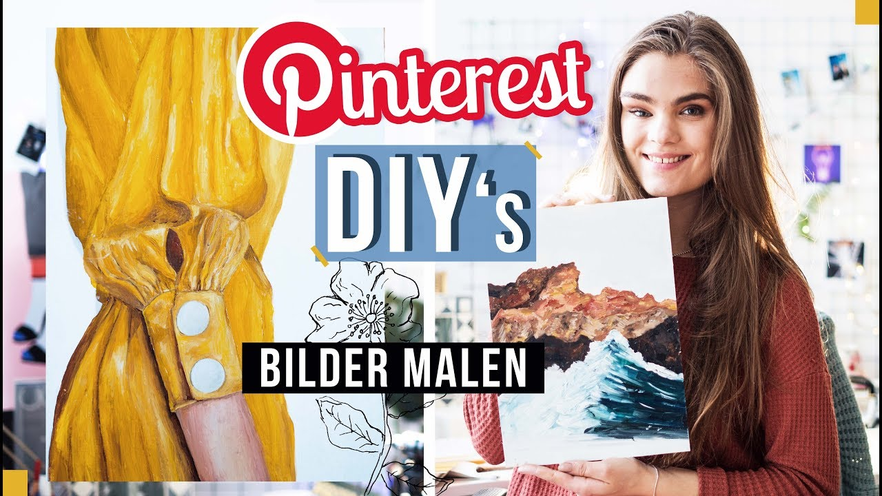 2 pinterest diy 39 s bilder malen mit lfarbe teil 9 i 39 mjette youtube. Black Bedroom Furniture Sets. Home Design Ideas