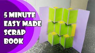 Easy to make but Elegant DIY Scrap Book Art using excess art papers