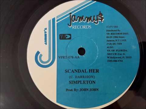 "Simpleton - Scandal Her - Jammy's 12"" 1992"