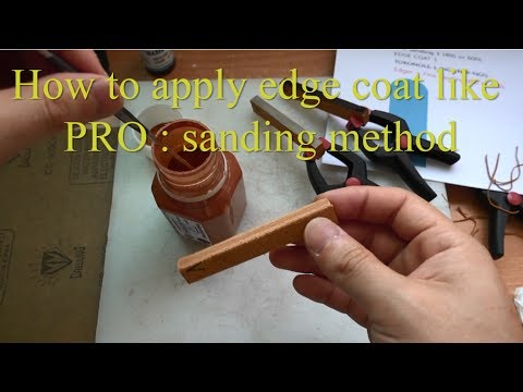 How to Apply Edgecoat like PRO : Sanding Method