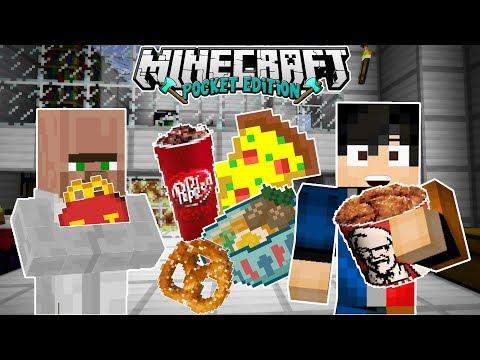 🔥 Fast Food Addon For MCPE  |  Pretzel , Pizza , KFC , McDonalds , DrPepper | Minecraft Moments