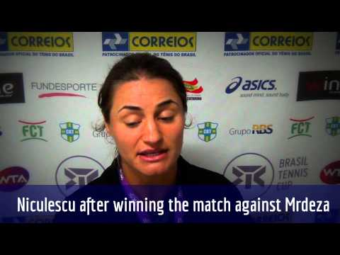 Niculescu after winning the match against Mrdeza 61 61 - (ENG)
