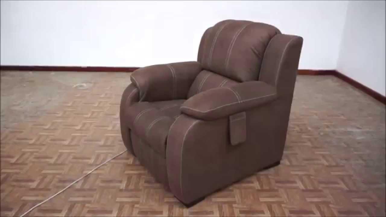 SOFAMEX Sillón reclinable eléctrico Lisboa - YouTube