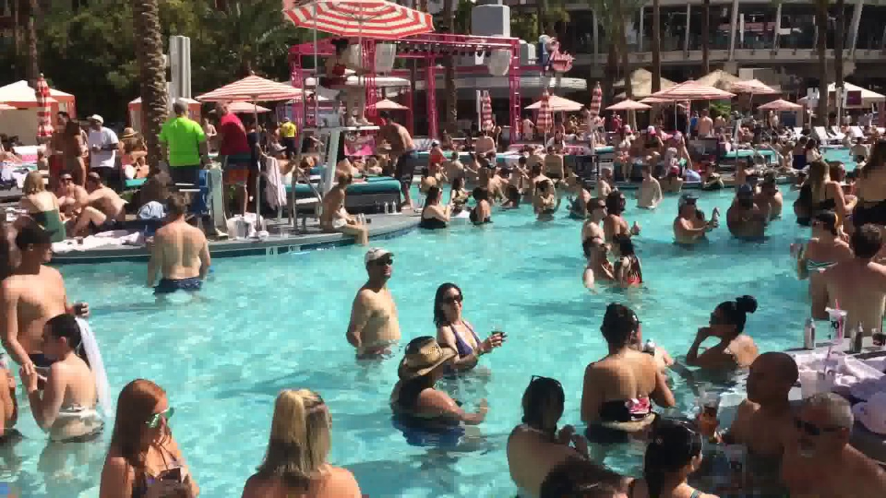 Flamingo Pool Dates Time For Summer At The Flamingo Las Vegas Pool