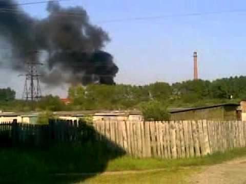 В Мантурово сгорел фанерный комбинат