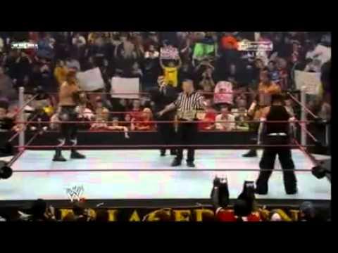 WWE Armageddon 2008 - Jeff Hardy Vs. Triple H Vs. Edge WWE Championship Part 1/3