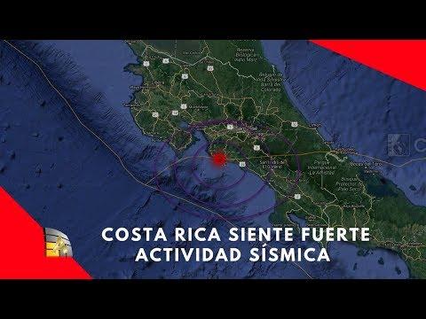 Costa Rica: Fuerte actividad sísmica de 6,5, y de 5 y 4 de magnitud sacuden el pais