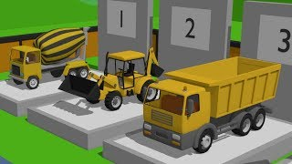 Exhibition of Construction Machinery | #Excavator, Truck, Roller, Concrete mixer for kids. Maszyny