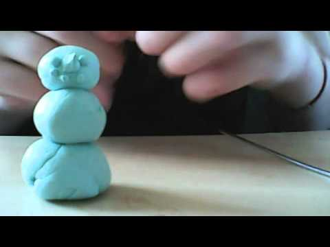 How to make a snowman out of blutac or blue tack episode 1