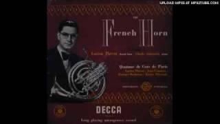 """Gambar cover Lucien Thévet plays J. S. Bach Sicilienne with the """"Quartour de Cors de Paris"""". Lp record."""