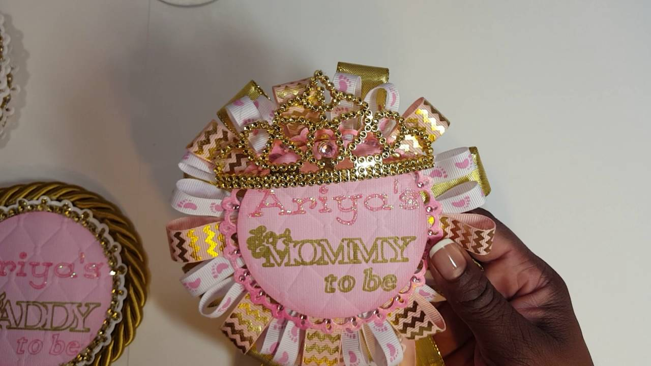 Baby Shower Corsage   YouTube