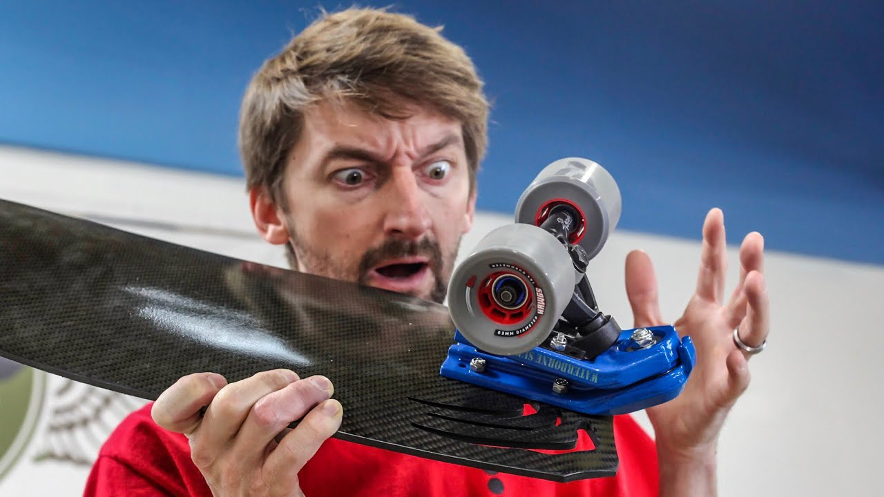 Indestructible  Carbon Fiber Surf Skateboard?!