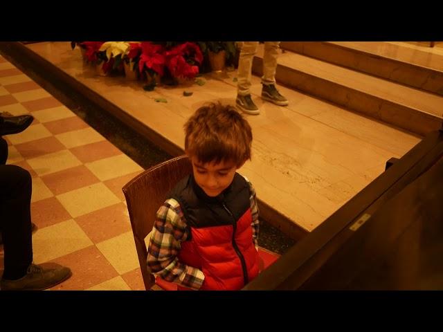 Gabriel performs Birthday Cake - first recital Winter 2019