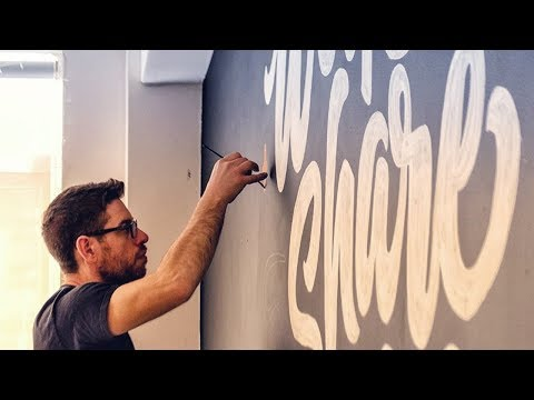 Lettering Wall Mural - My Process Walkthrough
