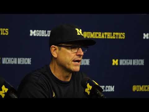 Jim Harbaugh discusses Michigan State Loss