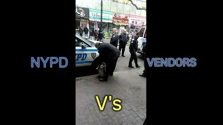 NYPD 110 Pct. Officers Attacking Community Street Vendors in Queens