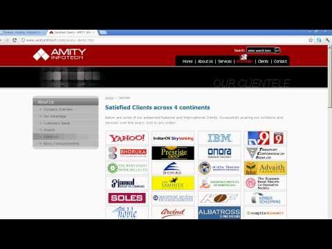 Domain , Hosting , WebDesigning Providers - Amity Infotech Bangalore