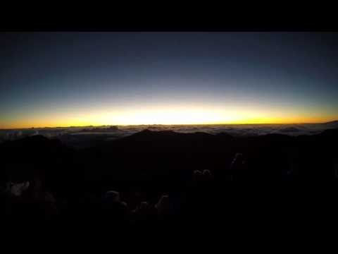 Sunrise over Haleakala National Park