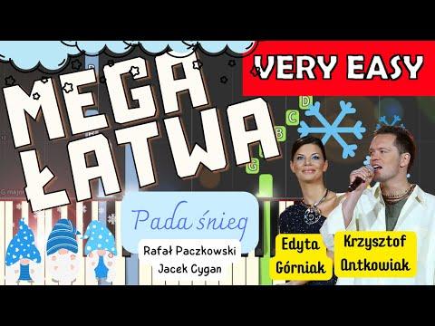 🎹 Pada śnieg (E. Górniak i K. Antkowiak) - Piano Tutorial (MEGA ŁATWA wersja) 🎹