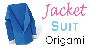 Jacket Suit Coat Outer ✨ Origami Paper Father's Day - Origami Kawaii〔#080〕