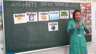 Teaching English Internationally- Demo Lesson-  Days of the Week