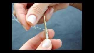 KAZAZİYE Yeminli Sürgü Yapımı, 4B X 9L Turk's Head Knot With Silver Wire