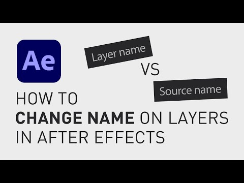 How to change name on layers in After Effects