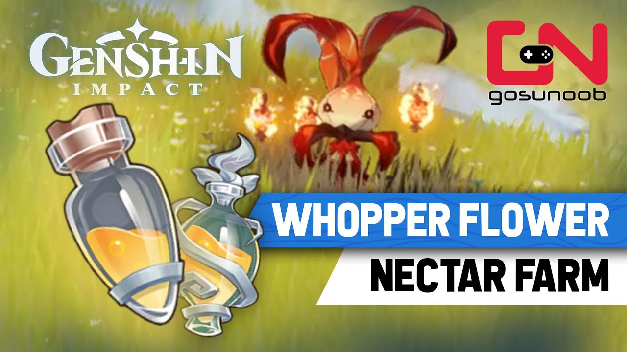 Genshin Impact Whopper Flower Locations How To Get Whooperflower Shimmering Nectar Farm Youtube