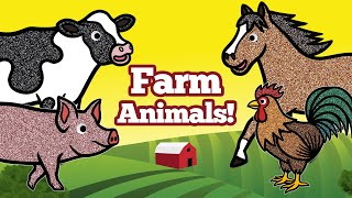 Learn Farm Animals Names and Sounds for Kids | Old MacDonald, Domestic Animals Matching Game